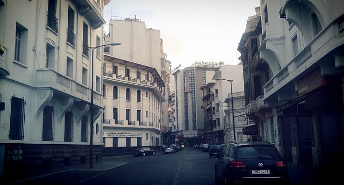 Колониальная архитектура в центре Касабланки