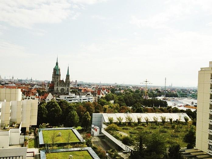 Вид с нашего балкона на Терезин луг