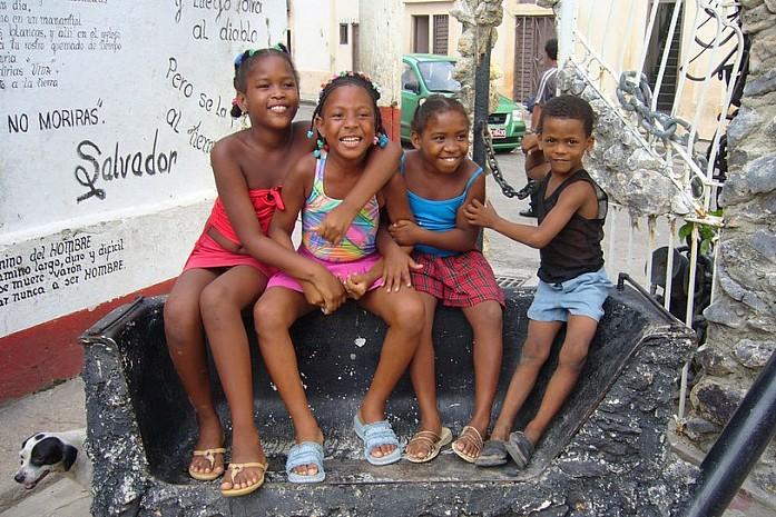 Дети на Кубе