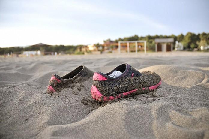 Морские тапочки здесь совершенно ни к чему, разве только песок будет слишком горячим