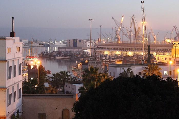 Вид на порт в Касабланке