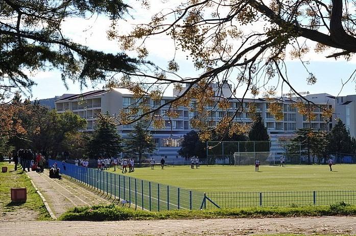 В городе 2 огромных стадиона с покрытием и обычные площадки в каждом дворе. Спорту тут уделяется огромное внимание