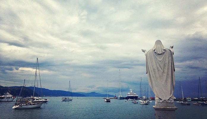 Статуя Св. Маргериты Антиохийской, покровительницы Санта-Маргерита-Лигуре