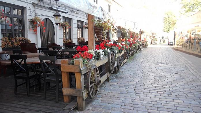 Кафе Старой Риги в ожидании посетителей