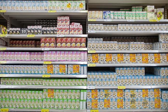 Упаковки соевого молока