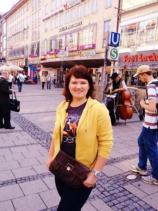 В Мюнхене часто можно встретить уличных музыкантов