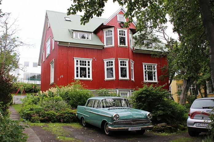 Один из домиков в Рейкьявике