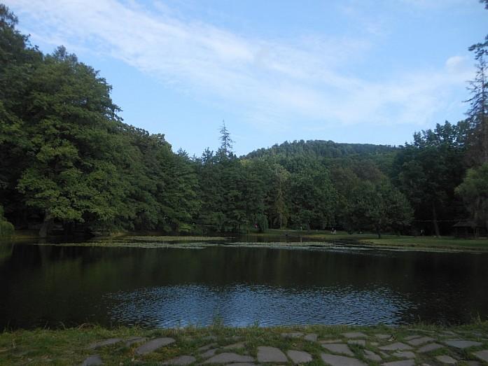 Пруд и парковая зона замка-санатория.