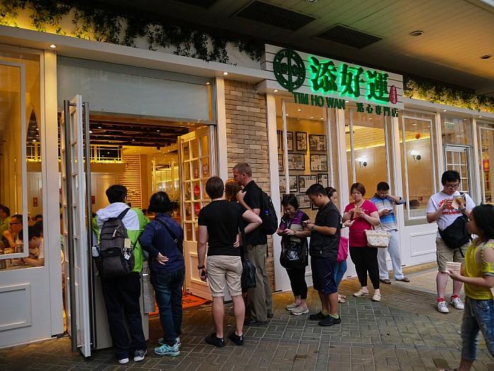 очередь в ресторан Tim Ho Wan