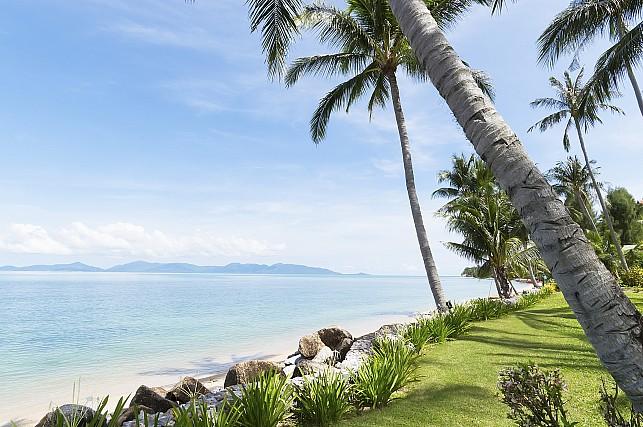 Дом среди пальм и пляжей