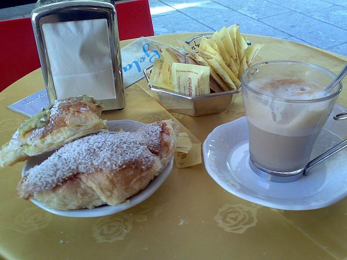 Завтрак в Милане.