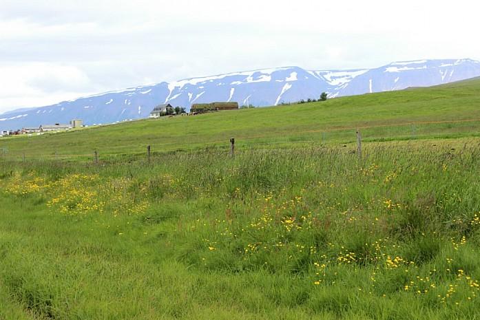 Заснеженные вершины региона Скагафьордур