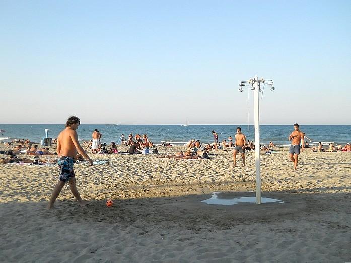 На бесплатном пляже