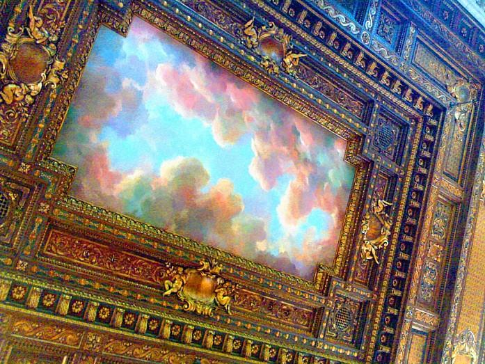 Потолок в Центральной библиотеке Нью-Йорка