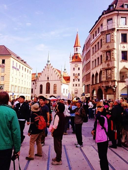 Туристов в Мюнхене очень много