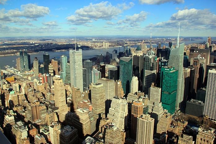 Вид на Нью-Йорк с Эмпайр Стейт Билдинг