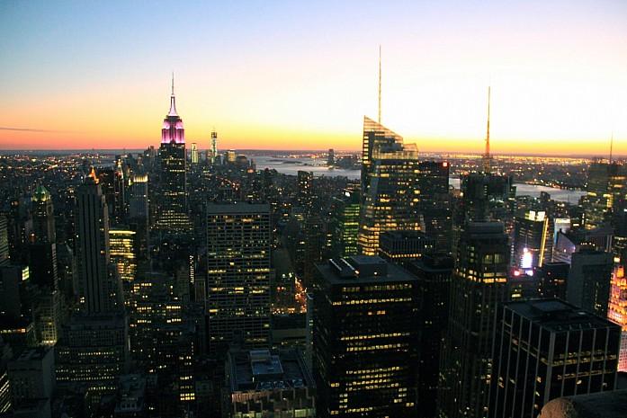 Вид на Нью-Йорк с башни Top of the Rock
